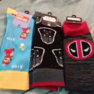 3 pop culture crew tube socks for $20